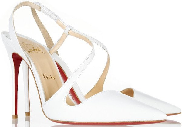 """Christian Louboutin """"June"""" Pumps in White"""
