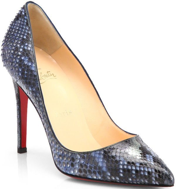 "Christian Louboutin ""Pigalle"" Python Pump"