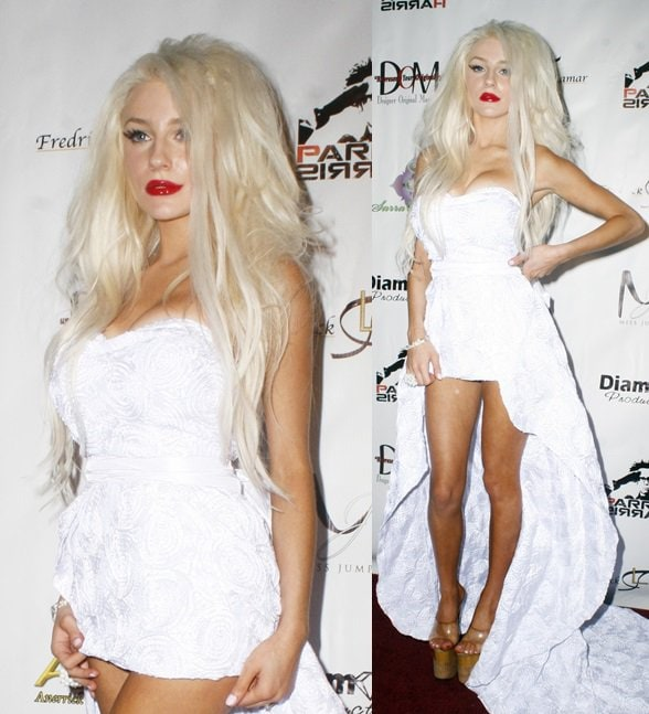 Courtney Stodden attends the Shekeharrahate Haute Couture fashion show in Los Angeles on March 14, 2013