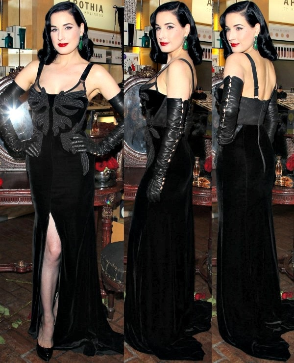 """Dita Von Teese at the """"Erotique"""" fragrance launch at Fred Segal in West Hollywood, Los Angeles, California, on November 21, 2013"""