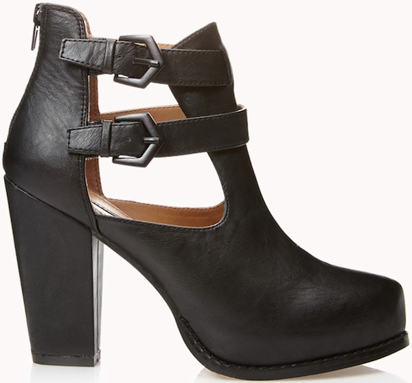 """Forever 21 """"Rock'n'Roll"""" Cut-out Bootie"""