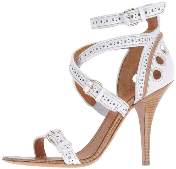 Givenchy White Perforated Leather Sandal
