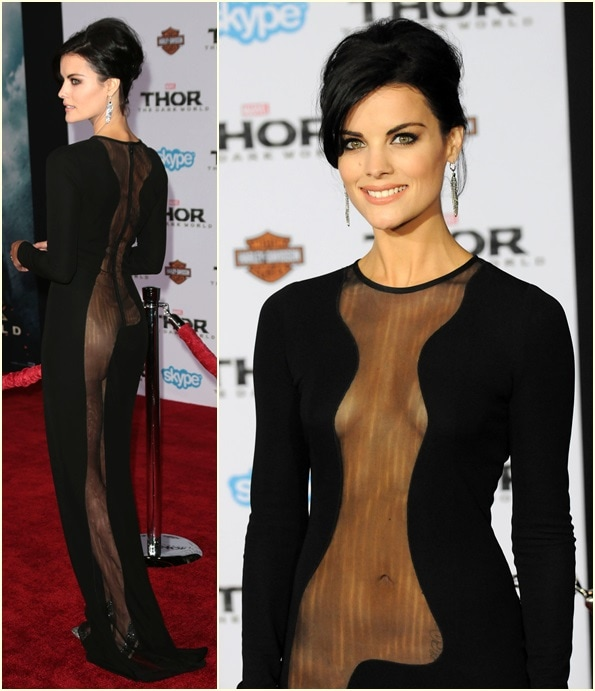 Jaimie Alexander exposed a little more than what we wanted to see