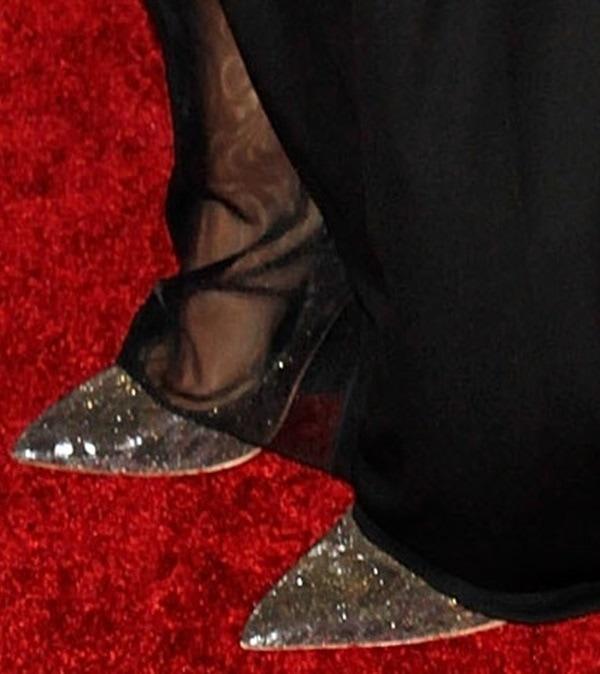 A closer look at Jaimie Alexander's sparkly stilettos