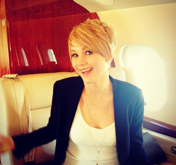 Jennifer Lawrence takes to her Facebook page to show off her new pixie haircut