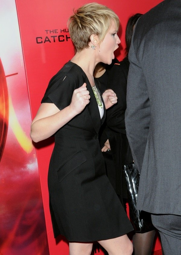Jennifer Lawrence caught on camera while shouting at the paparazzi