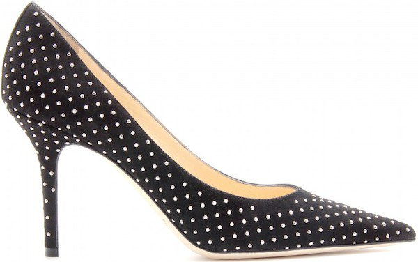 "Jimmy Choo ""Agnes"" Studded Suede Pump"