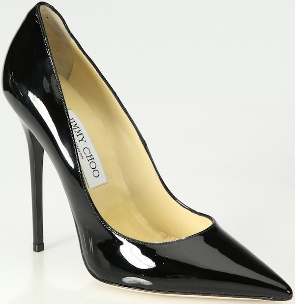"Jimmy Choo ""Anouk"" Pump in Black Patent Leather"