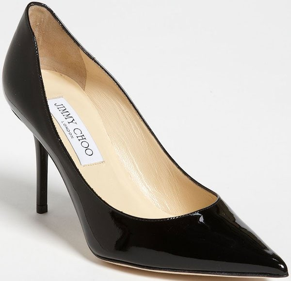 "Jimmy Choo ""Agnes"" Pump in Black Patent Leather"