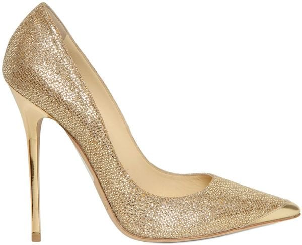 "Jimmy Choo ""Anouk"" Glitter and Calf Pump"