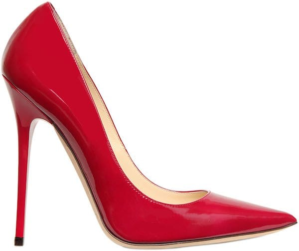 "Jimmy Choo ""Anouk"" Pump in Red Patent Leather"