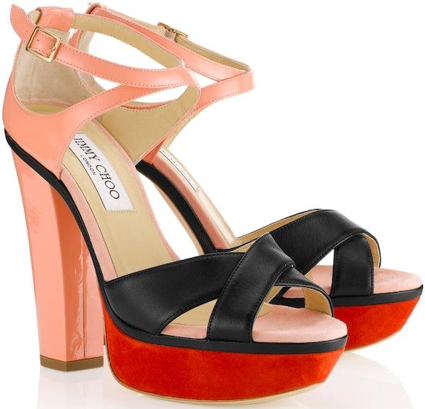 "Jimmy Choo ""Tiber"" Platform Sandals"