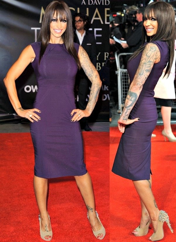 Jodie Marsh at the premiere of 'Michael Jackson: The Life of an Icon' held at the Empire Leicester Square in London, England, on November 2, 2011