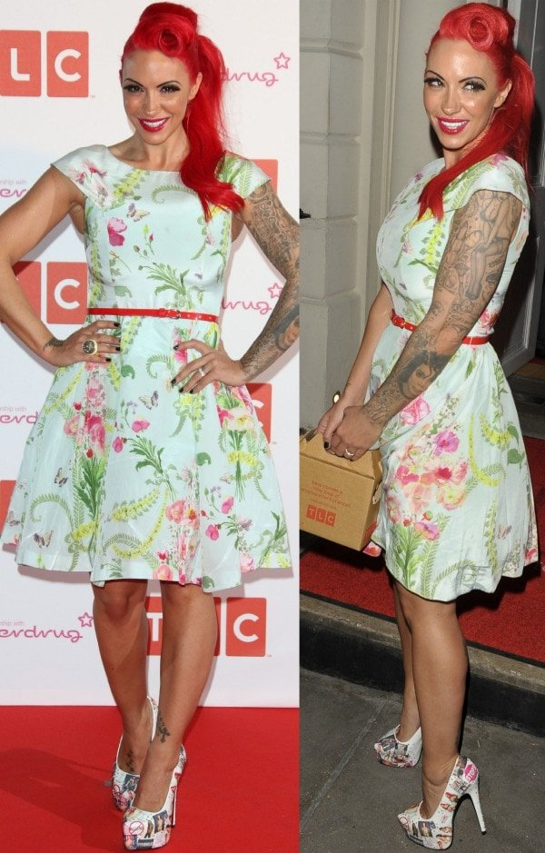 Jodie Marsh at the TLC Channel launch held at a nightclub called Sketch in London, England, on April 25, 2013