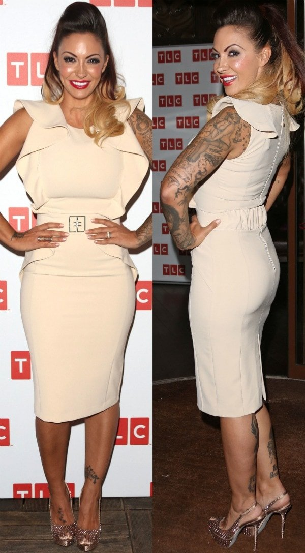 Jodie Marsh launching her new television shows on TLC at the Sanctum Soho Hotel in London, England, on October 9, 2013