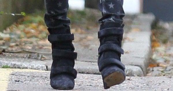"Kate Moss wearing Isabel Marant ""Sebay"" ankle boots"