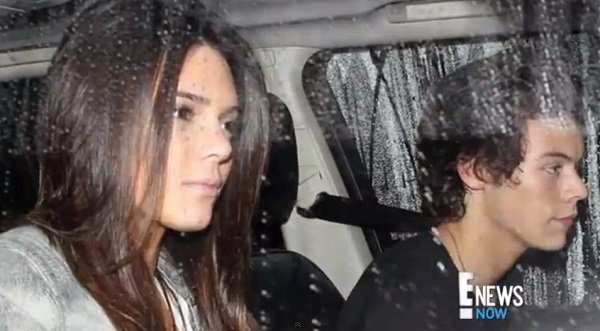 Caught in the act! Kendall Jenner and Harry Styles drive home after a dinner date, November 20, 2013