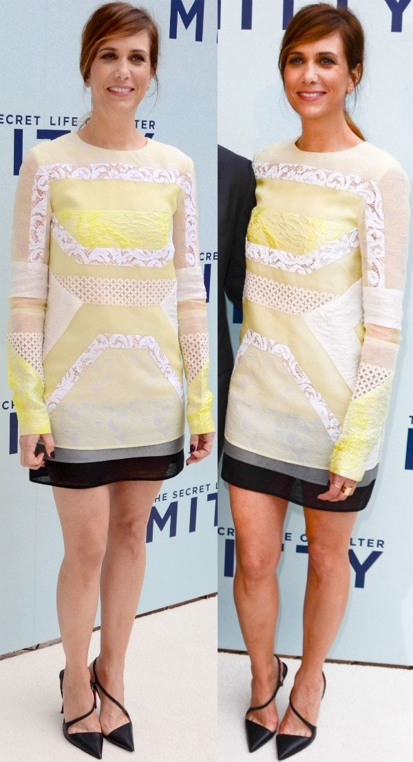 "Kristen Wiig flaunts her legs at the Australian premiere of ""The Secret Life of Walter Mitty"""