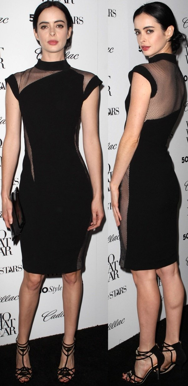 Krysten Ritter looked sexy and sultry at the Who What Wear and Cadillac's 50 Most Fashionable Women of 2013 event