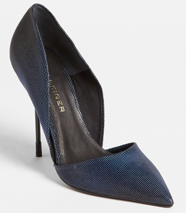 kurt geiger bond pumps navy