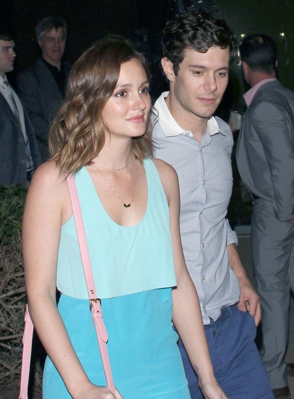 Leighton Meester and Adam Brody seen at Brick Yard Nightclub in North Hollywood after the premiere of Adam's movie 'Some Girl(s)' on June 26, 2013