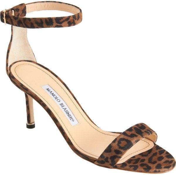 """Manolo Blahnik """"Chaos"""" Sandal in Leopard"""