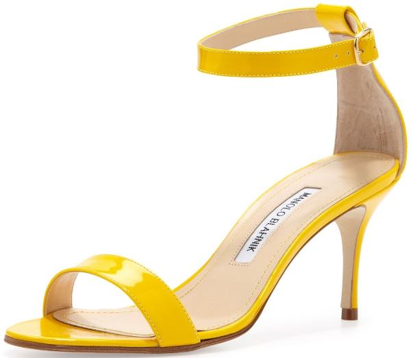 "Manolo Blahnik ""Chaos"" Sandal in Yellow"