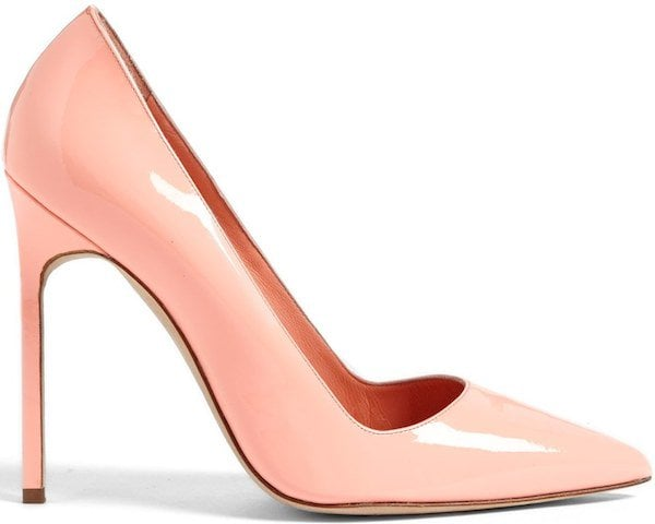 "Manolo Blahnik ""BB"" Pointy-Toe Pump in Coral"