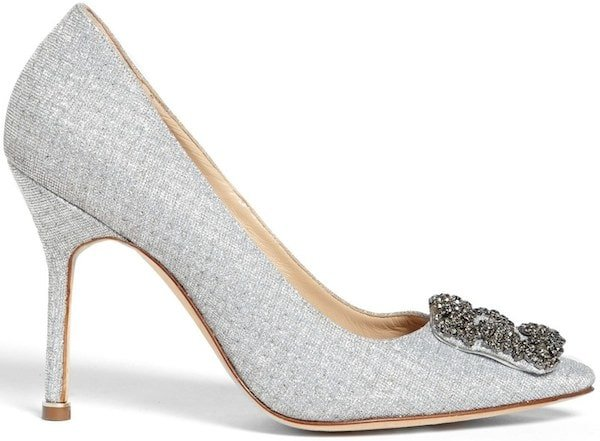 "Manolo Blahnik ""Hangisi"" Jeweled Pump"