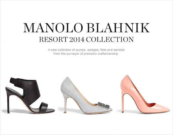 Manolo Blahnik Resort 2014 Collection