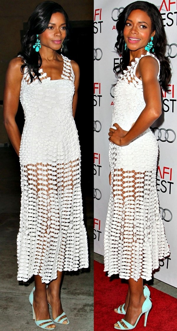 "Naomie Harris attends the premiere of ""Mandela: Long Walk to Freedom"" held during the AFI Fest 2013"