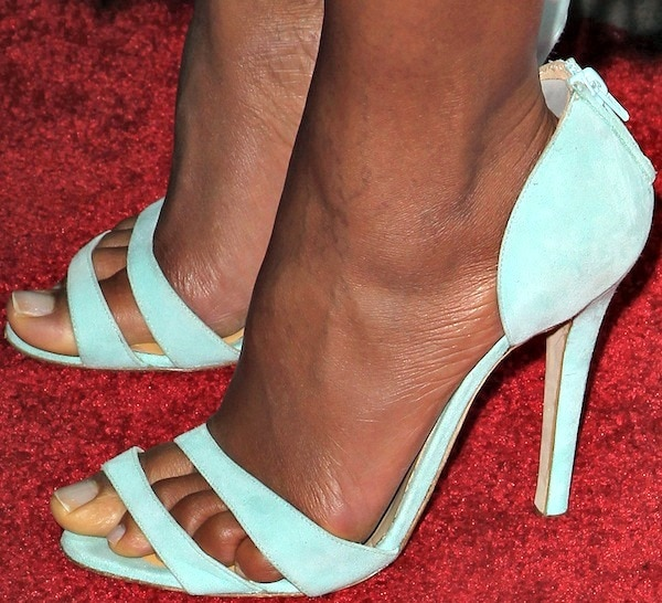 Naomie Harris's feet in Issa d'Orsay sandals