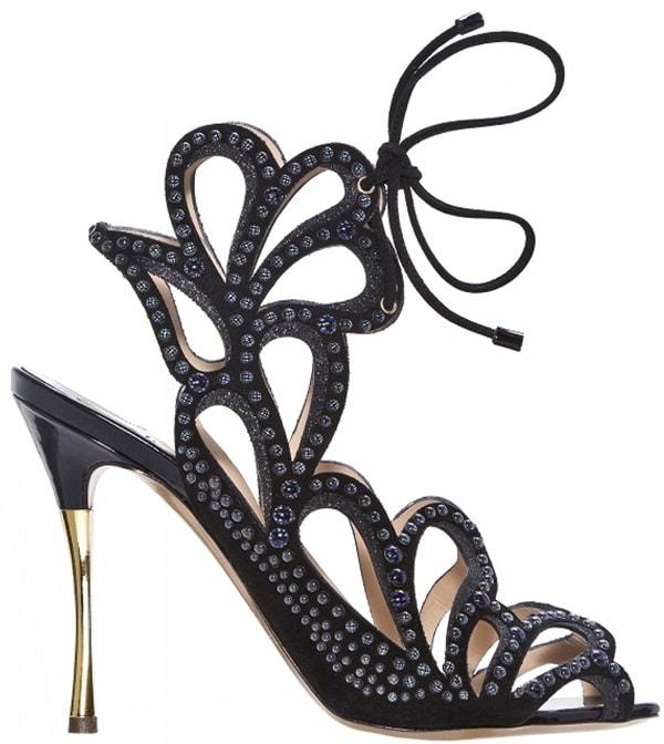 nicholas kirkwood scalloped lasercut sandals