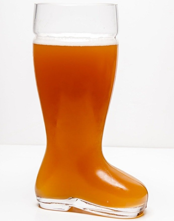 Oktoberfest Style Glass Beer Boot