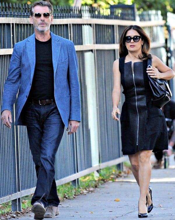 Pierce Brosnan and Salma Hayek