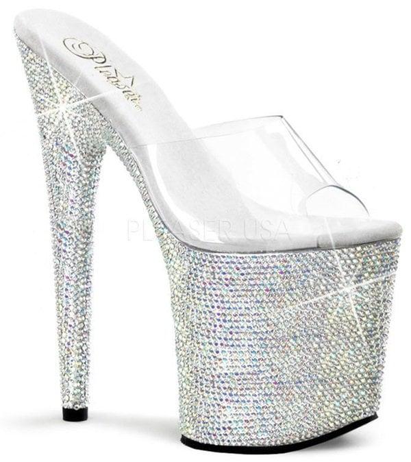 Pleaser Bejeweled Platform Sandals