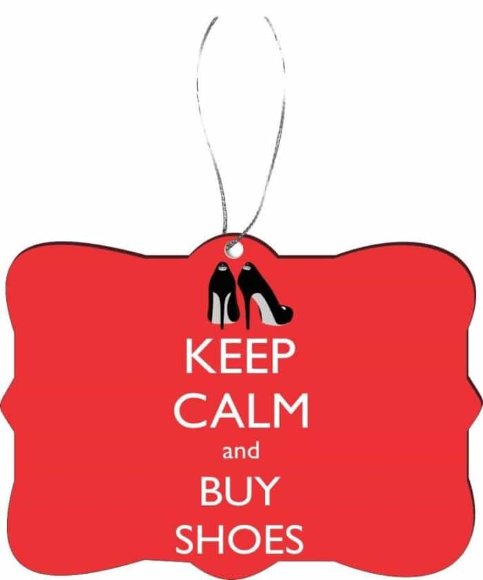 "Rikki Knight ""Keep Calm and Buy Shoes"" Ornament"