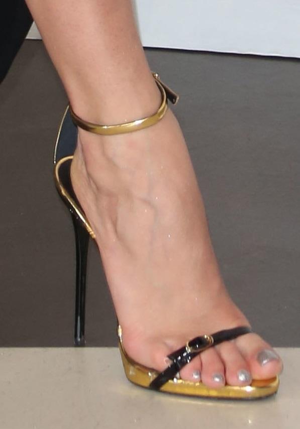 Rita Ora shows off her feet in Giuseppe Zanotti heels