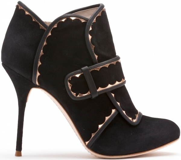 "Sophia Webster ""Amis"" Black and Rose Gold Leather Boot"