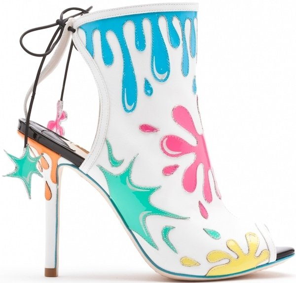 "Sophia Webster ""Arty Party"" Leather Bootie"