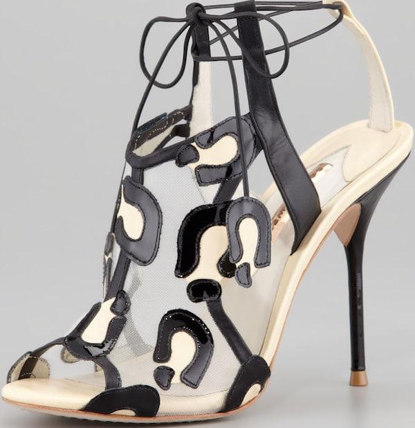 "Sophia Webster ""Blake"" Leopard Mesh Tie Sandal"