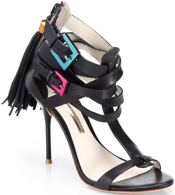 "Sophia Webster ""Cassidy"" Leather Strap Detail Sandal"