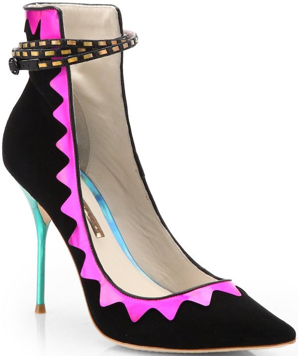 "Sophia Webster ""Roka"" Zigzag Detail Pump"