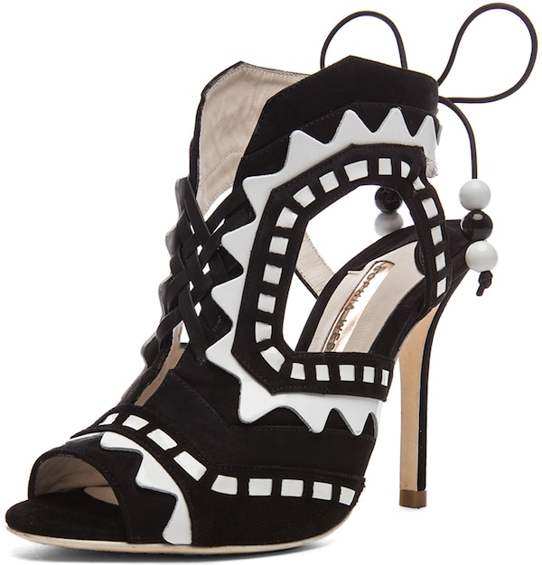 "Sophia Webster ""Riko"" Suede and Leather Sandal"