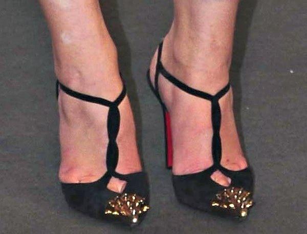 "Sophie Turner'sstudded slingback ""Geotistrap"" pumps from Christian Louboutin"