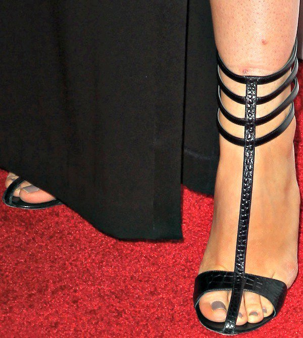 Stana Katic's feet in Chelsea Paris sandals