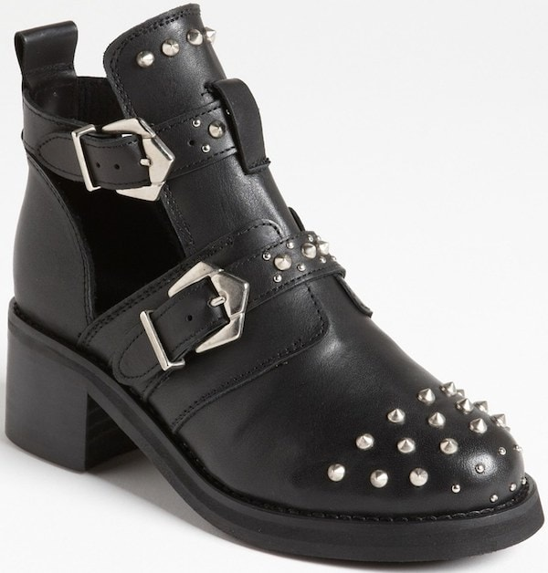 """Topshop """"Arabel"""" Studded Cut-Out Boot"""