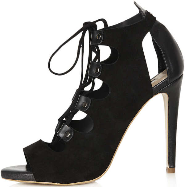 "Topshop ""Gala"" Lace-Up Cut-Out Shoe"