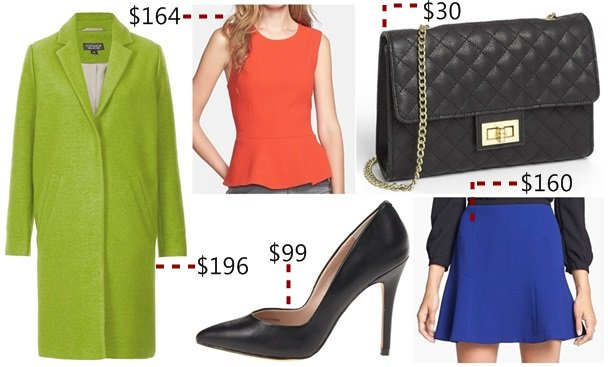 Wear your pumps with bold and bright colors