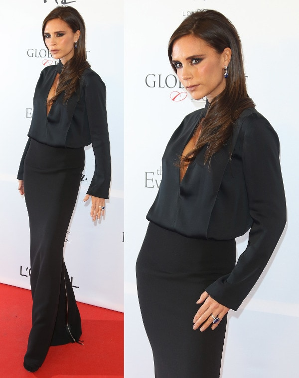 Victoria Beckham attends the fourth annual Global Gift Gala in London
